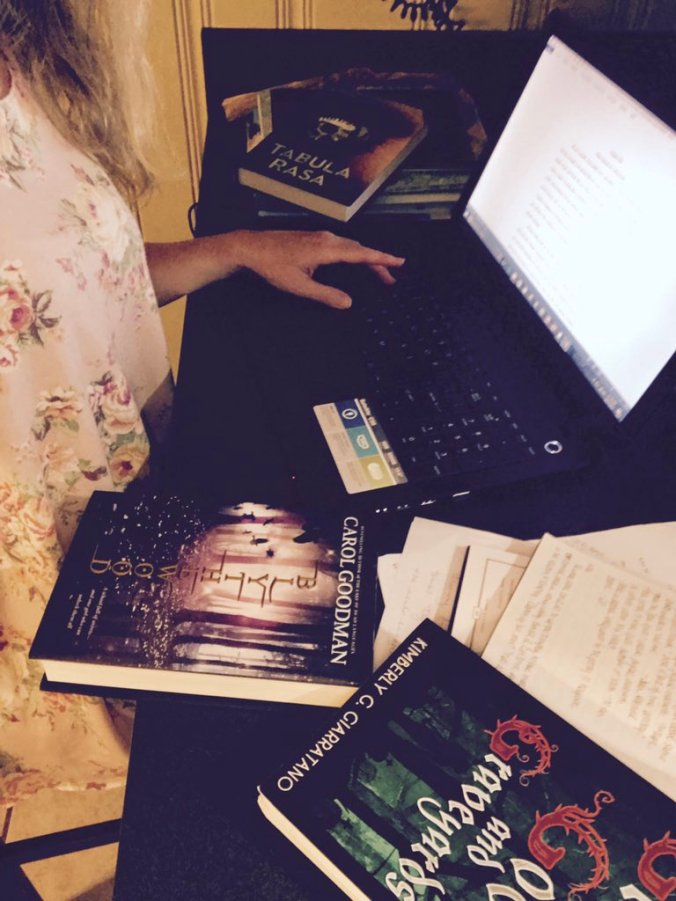 Reading example novels of YA mysteries & thrillers to better my own manuscript.